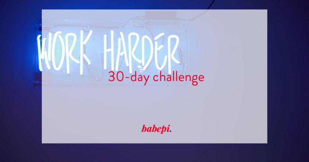 babepi 30 day challenge