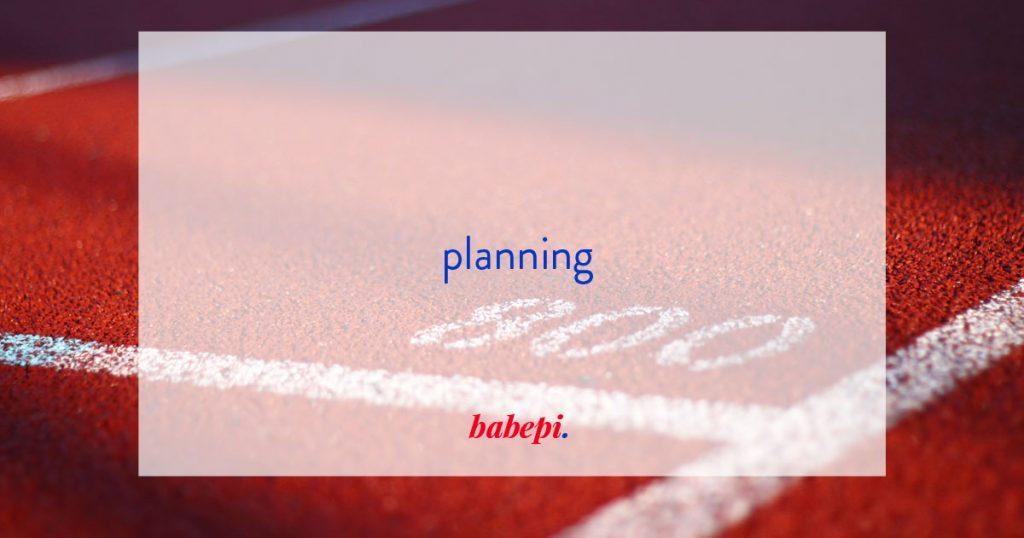 diario di babepi | fare planning